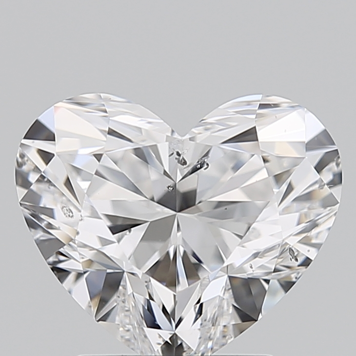 Heart Cut 2.010 Carat D Color Si2 Clarity Sku 1200230329