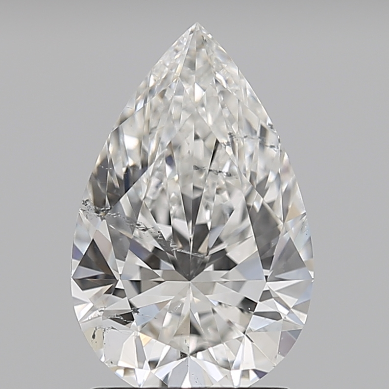 Pear Cut 1.510 Carat G Color Si2 Clarity Sku 4027430376