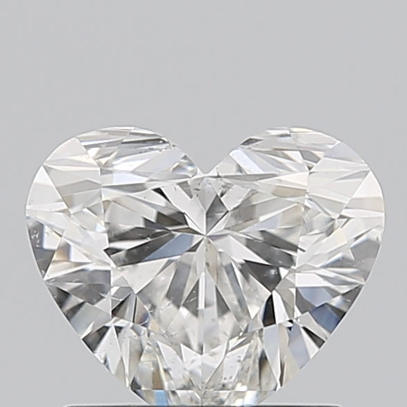 Heart Cut 0.910 Carat H Color Si1 Clarity Sku 3627921676